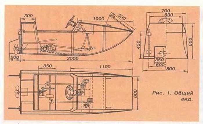 чертеж мини лодок
