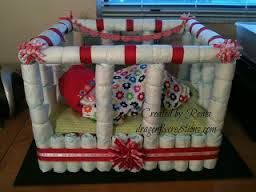 crib diaper cake - Google Search