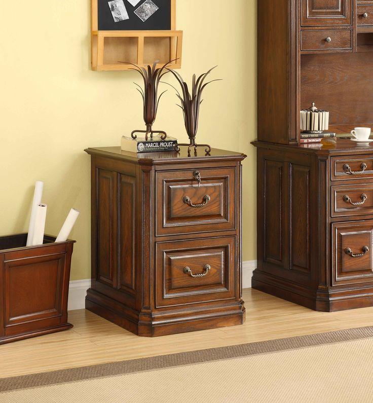 Whalen Oak File Cabinet