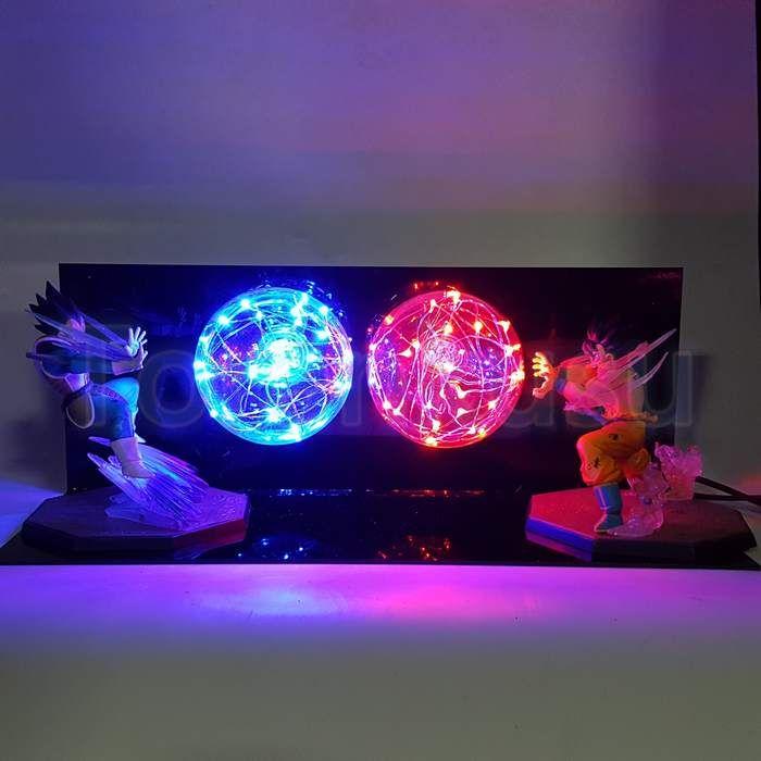 Goku Kamehameha Wave Vegeta Final Flash Ball Diy 3d Led Light Lamp Dbz Dragonball Lamp Dragon Ball Dragon Ball Z Diy Display