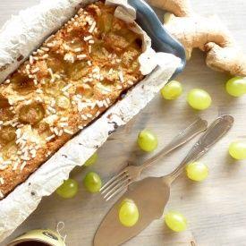 Plumcake vegan all'uva e zenzero senza uova e senza burro!