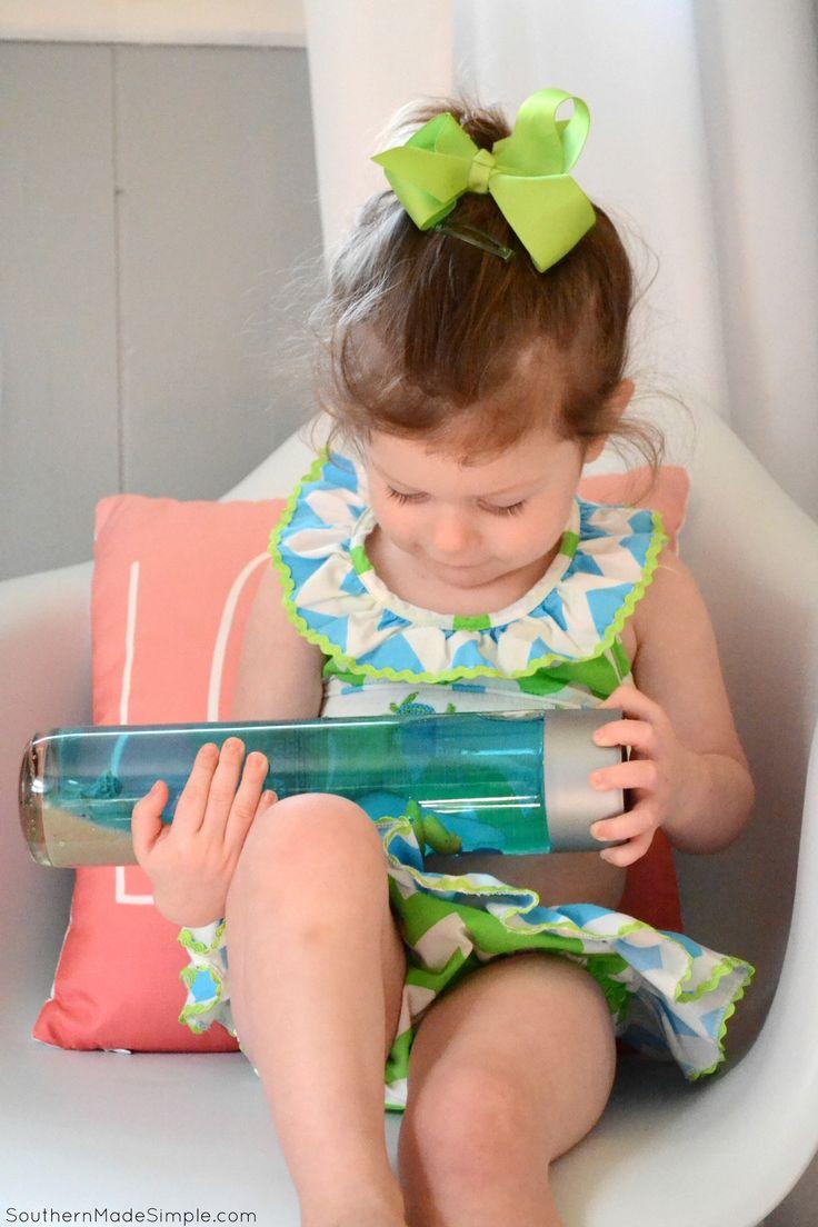 Toddler Road Trip Entertainment: DIY Ocean Seek & Find Bottle