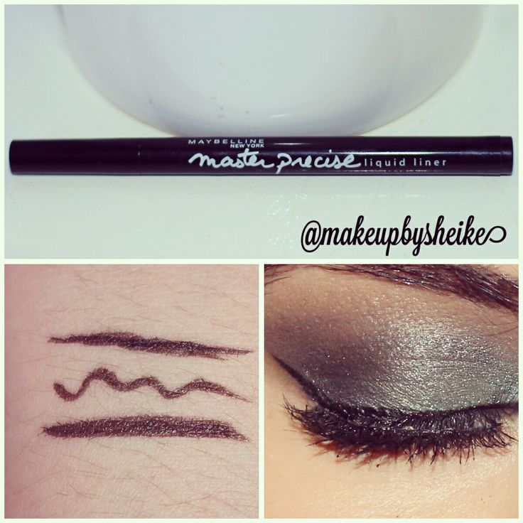 Liquid liner very nice for thin and thick liner and easy to apply follow for more on Instagram @makeupbysheike
