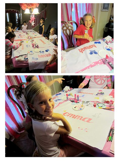 Pajama Birthday Party: Pancake Bar, Pillowcase Decorating, Rainbow Nails and a movie.
