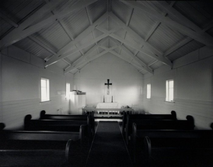 Laurence Aberhart - Interior: Church of the Transformation, Tautoro, - Chartwell Collection of contemporary art