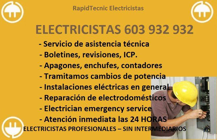 17 best images about electricistas valladolid 603 932 932 - Electricistas en madrid ...