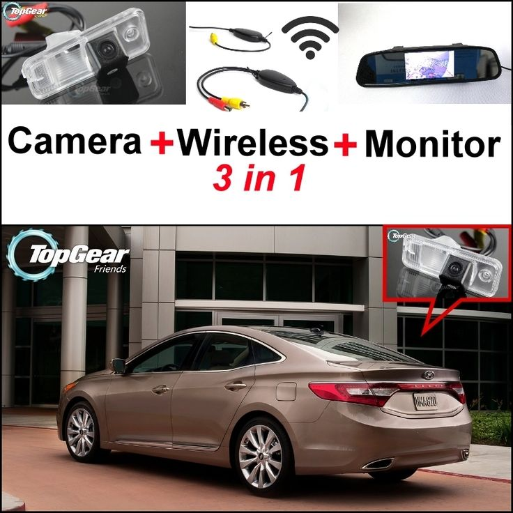 74.44$  Buy here - http://alilua.worldwells.pw/go.php?t=32469583241 - 3 in1 Special Camera + Wireless Receiver + Mirror Monitor DIY Backup Parking System For Hyundai Grandeur 2011~2015