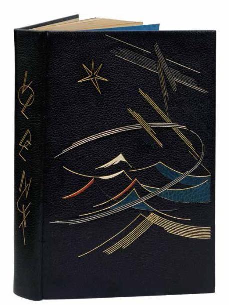 Antoine de SAINT-EXUPERY Vol de nuit. Paris, les Centraux bibliophiles, 1957. Reliure signée à l'or au bas du contreplat O. SAULIN.