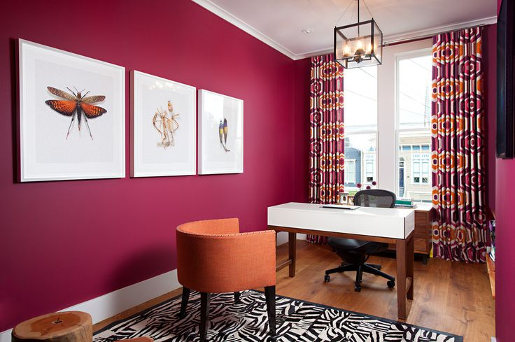 Image result for magenta office walls