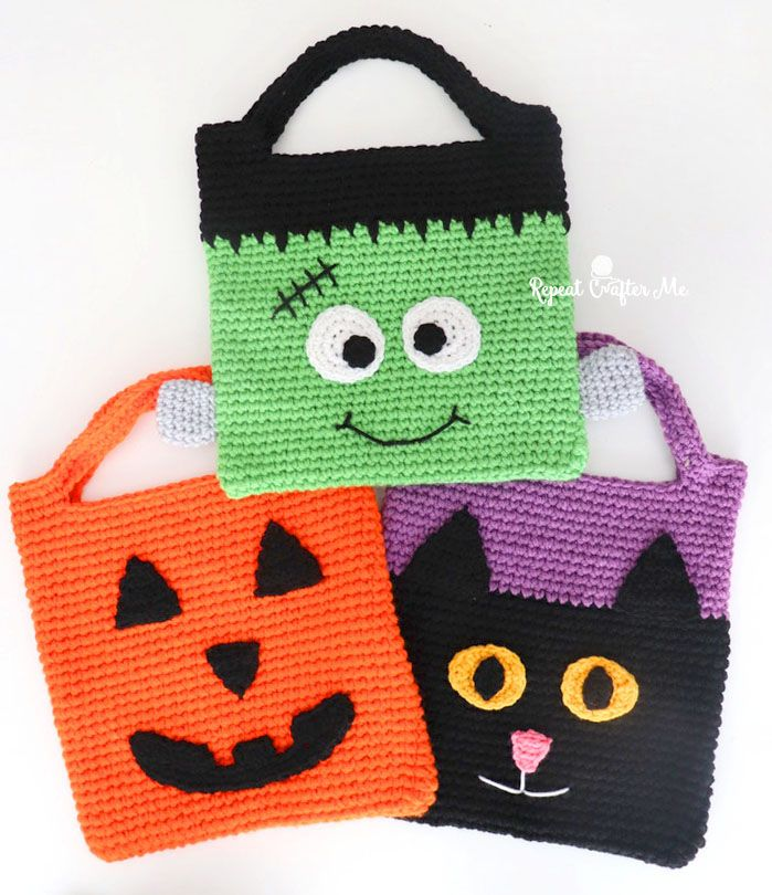 Halloween Crochet 2020 Crochet Halloween Tote Bags   Repeat Crafter Me in 2020