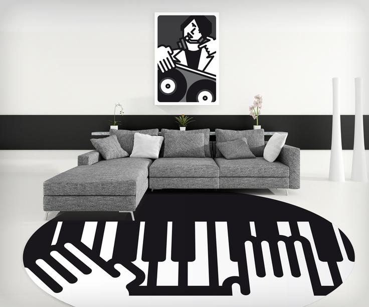 'Mani su pianoforte' (rotondo) Computer art Unlimited/2008