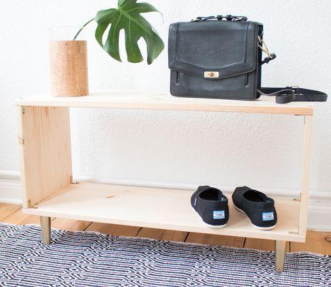 DIY Schuhregal | Shoe Rack | Storage | Natural Gold | Goldlack | Goldspray