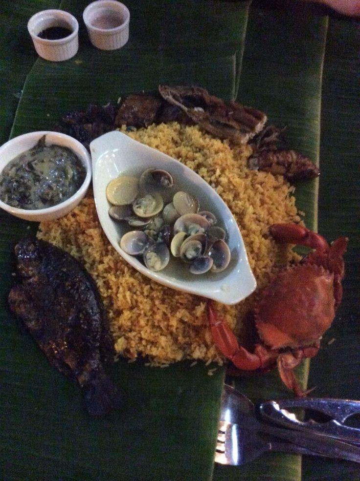 Seafood island.