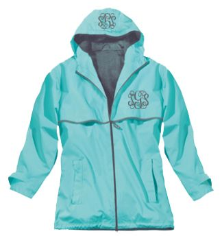 I love the color on this rainjacket! And monogrammed to boot!  #sweetlysouthern #utcm