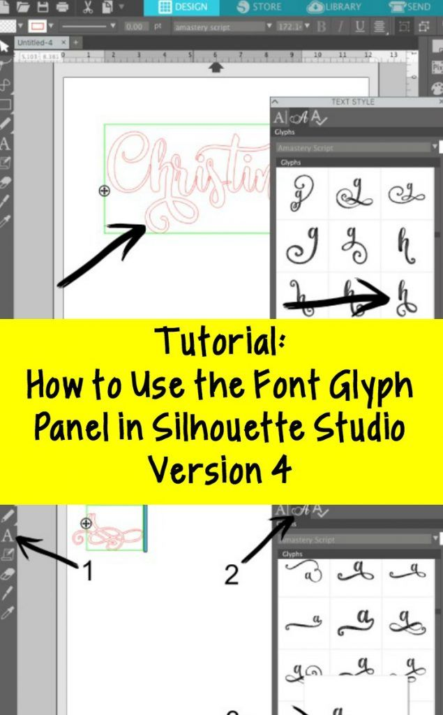 Tutorial: How to Use Font Glyphs in Silhouette Studio Version 4 - Cameo - Curio - Fonts - http://cuttingforbusiness.com/2017/11/28/tutorial-how-to-use-font-glyphs-in-silhouette-studio-version-4/