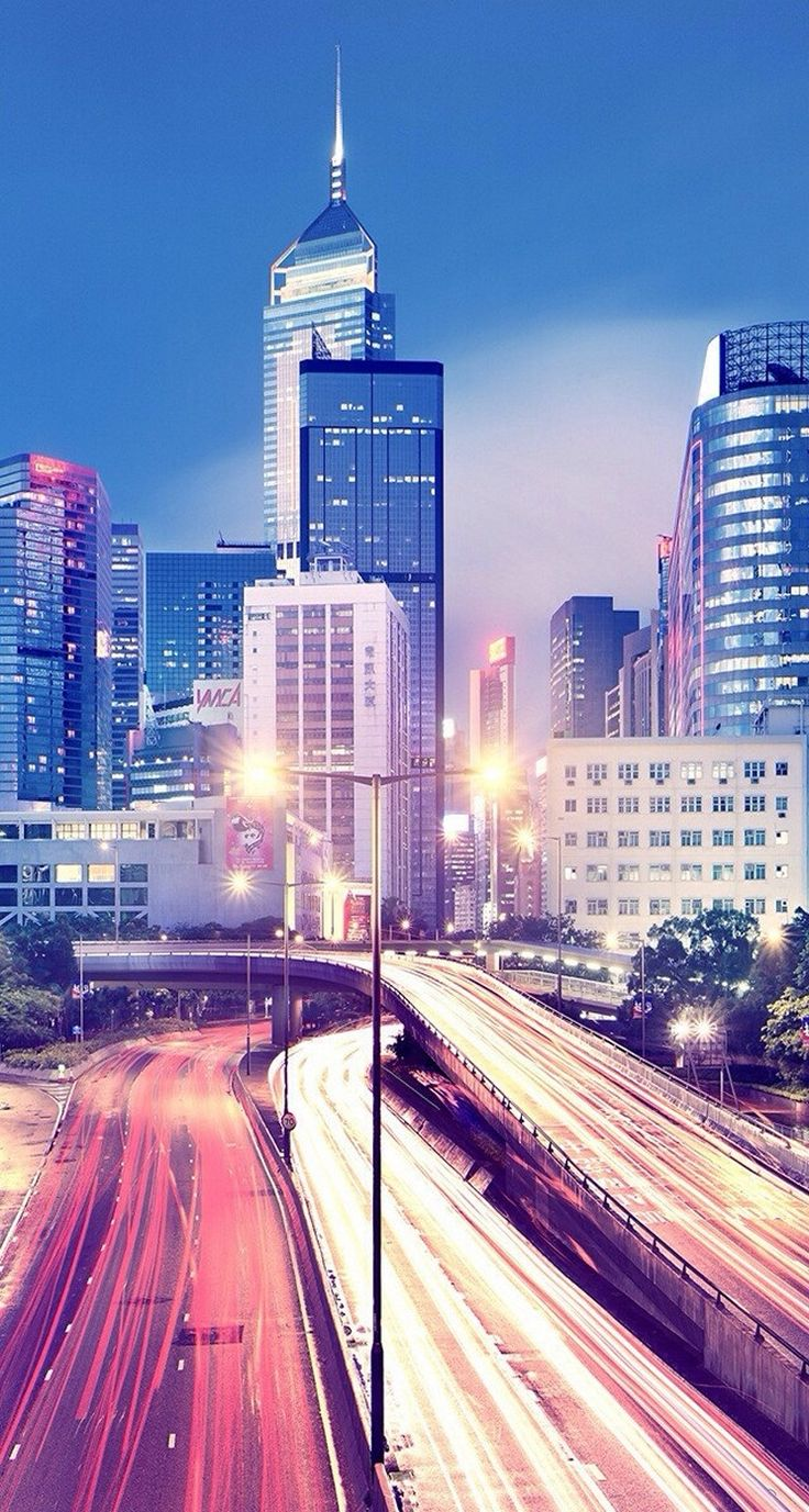 City at Night - iPhone Beautiful Landscape wallpapers @mobile9 #cityview #nightcity