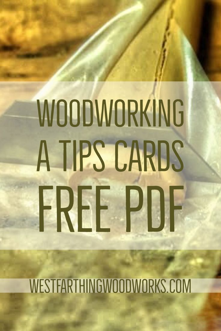 Printable Woodworking Tips Cards