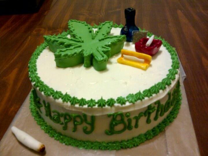 Cannabis Themed Birthday Cake