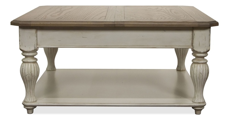 Coventry Two Tone Lift Top Square Cocktail Table Dovers The Two And Lakes