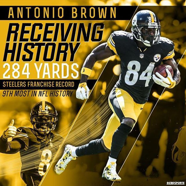 Ittsburgh Steelers #84 Antonio Brown