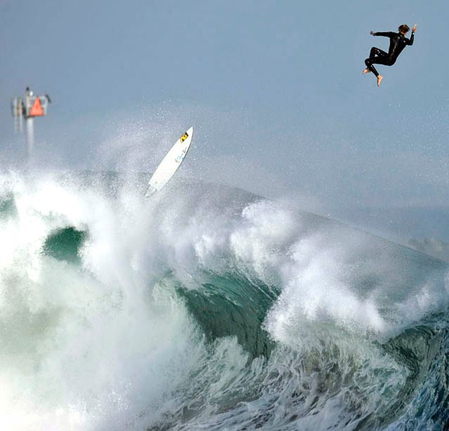 Big wave, big wipeout!