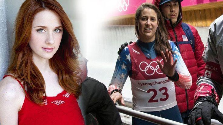 Emily Sweeney's luge Terrifying Crash | Emily Sweeney Walks Away | Crash Olympic 2018