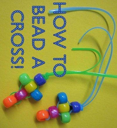 How to bead a cross - easy Christian craft from Catholic Icing