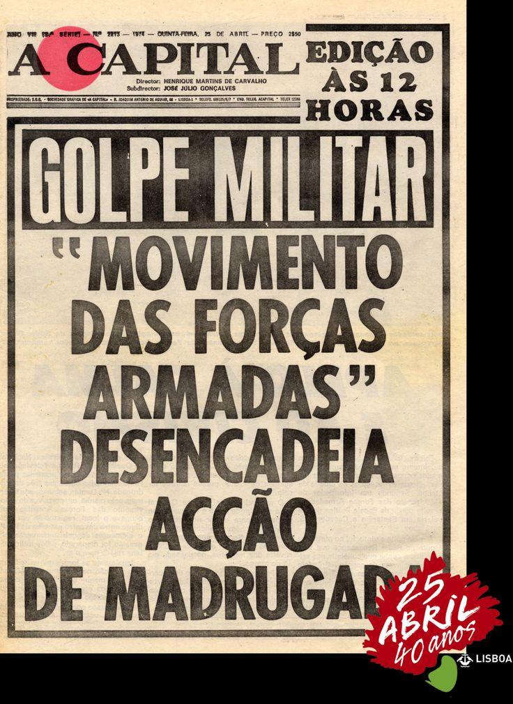 Une du journal A Capital le 25 Avril 1974