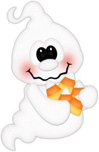GHOST WITH CANDY CORN 2017