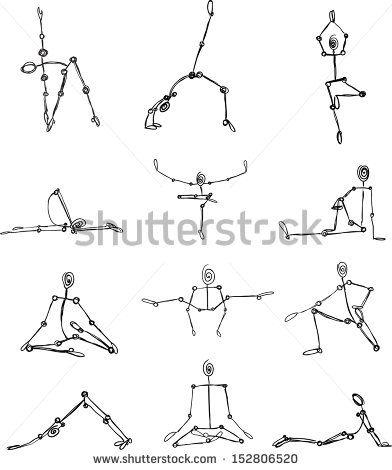 112 best asanas sketches images on pinterest  iyengar
