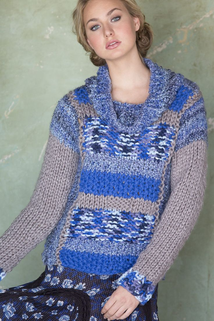 299 best sweater knitting patterns images on pinterest knitting free mixed textures pullover lorna misers easy cowl neck sweater is knit with contrasting blocks bankloansurffo Image collections