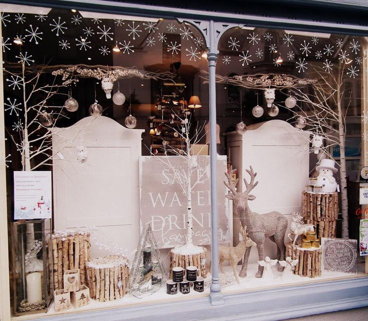 Fab window again by oyster gallery mumbles theyre using our snowflakes scatter kit
