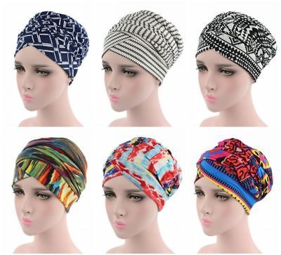 Fashion Women Cap Polyerter Flower Cancer Beanie Solid Color Ladies Baggy Hat Muslim Inclusive Caps Price Remains Stable Novelty & Special Use Islamic Clothing