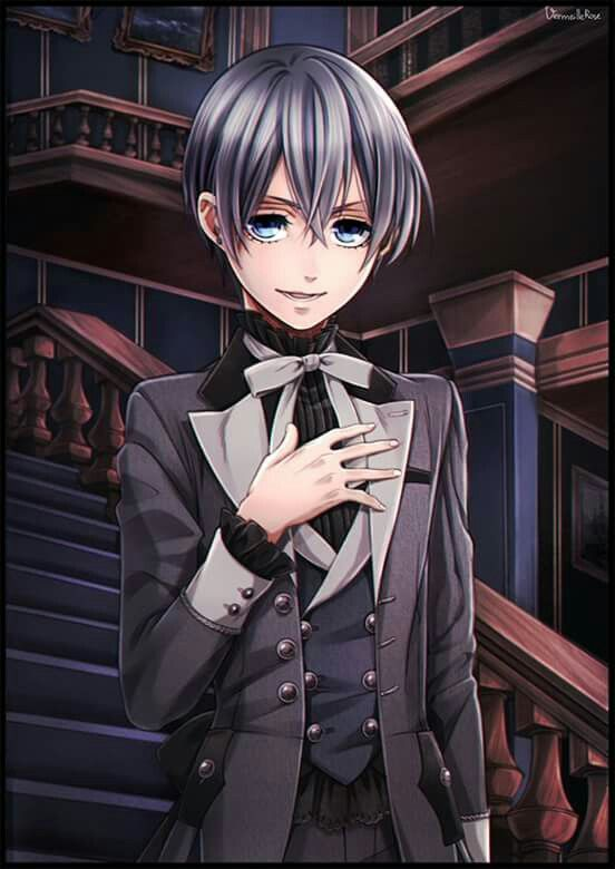 Kuroshitsuji, Ciel Phantomhive, where is his eye pat?! Where is his contract?! NOOO