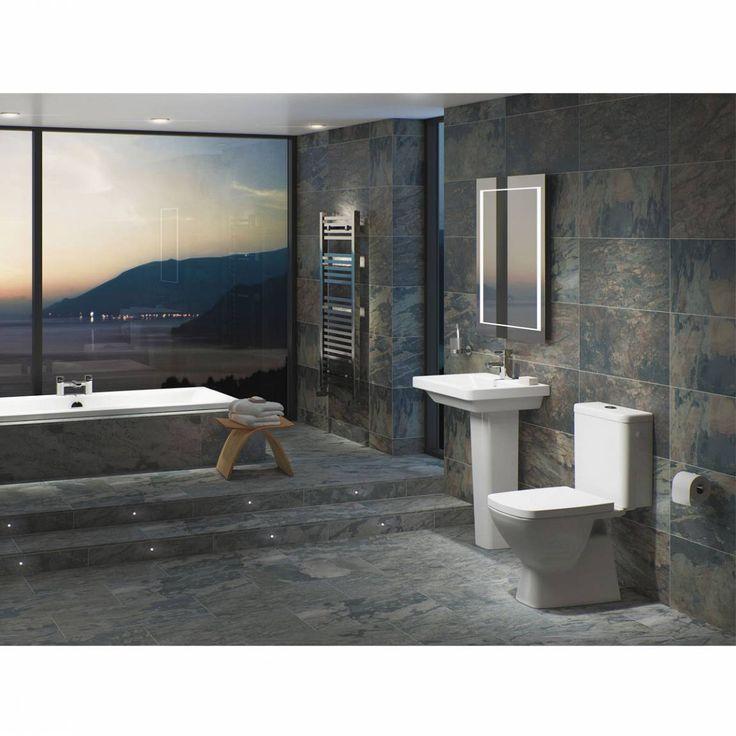 Onda Brown Glazed Porcelain Floor & Wall Tile 30cm x 60cm - Victoria Plumb
