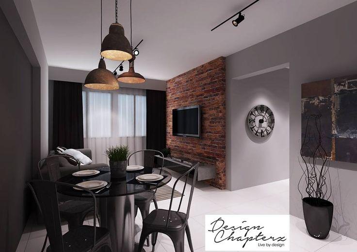 Hdb Home Design Ideas: HDB BTO 4-Room Modern Industrial @ Blk 635A Senja Road