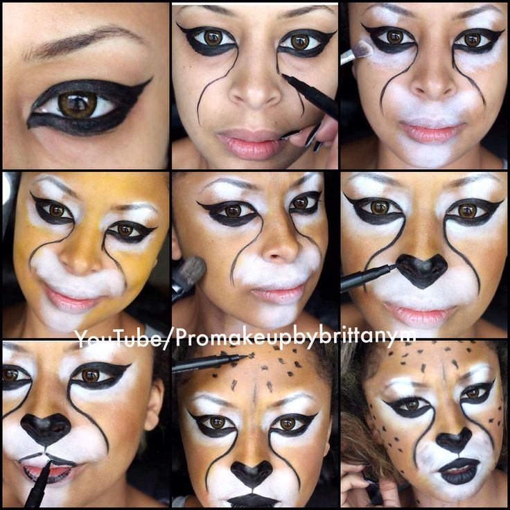 Cheetah Halloween Costume Makeup Tutorial