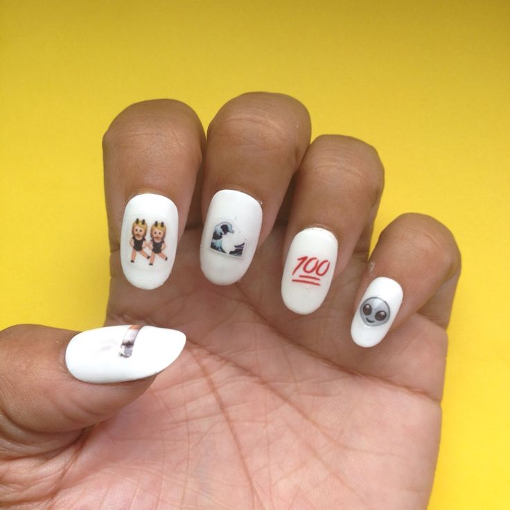 The 8 best Emoji images on Pinterest | Emoji nails, Nail art designs ...