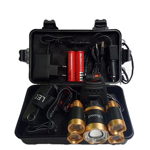 Litwod Z20 15000 Lumens Rechargeable 5 Led T6 Q5 Headlamp Led Headlamp Flashlight Head Flashlight