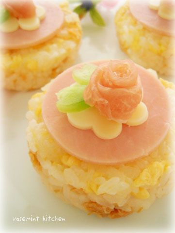 Small rose sushi for doll festival