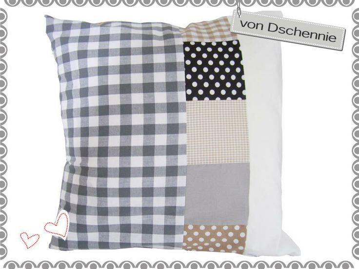 ♥+80x80cm-Tolle+Kissenhülle+♥+Patchwork+♥+von+von+Dschennie+auf+DaWanda.com