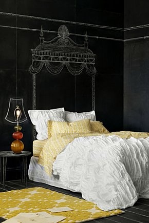 Love the wall! Cirrus Bedding via Anthropologie.