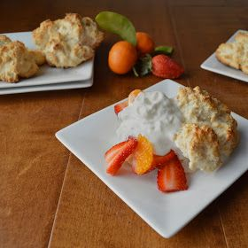 Virtually Homemade: Strawberry Tangerine Shortcakes with Bisquick Biscuits