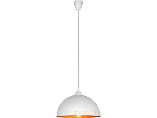 4893 LAMPA WISZĄCA HEMISPHERE BIAŁO-ZŁOTA S - Oświetlenie nowoczesne, lampy inspirowane