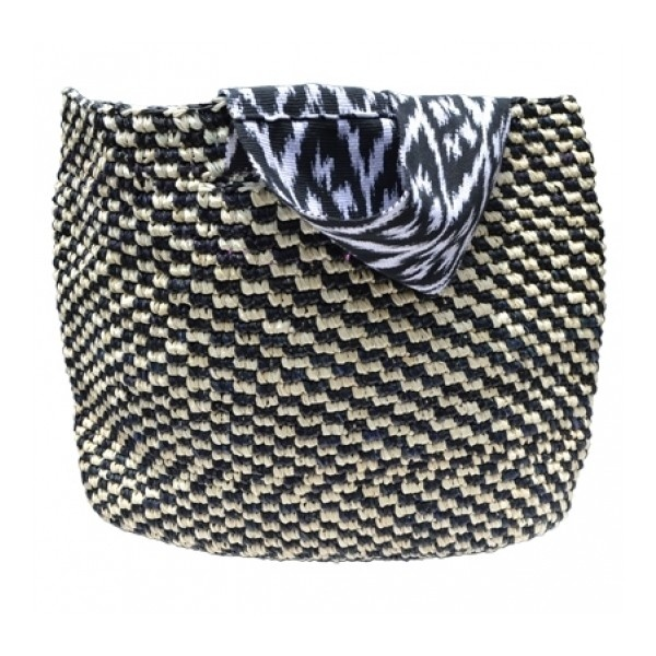 Ikat Beach Tote by Prymal - 100% Handmade Toquilla Straw and Ikat