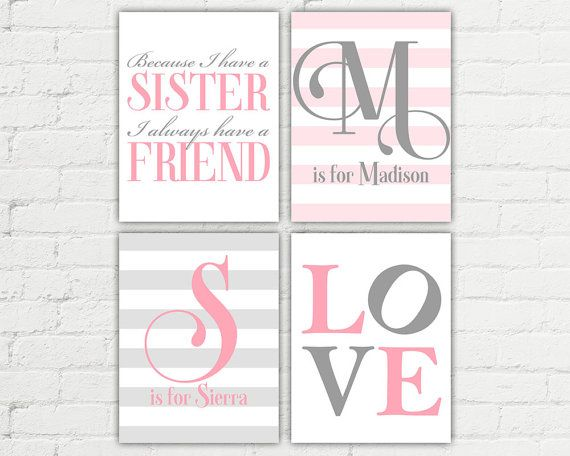 personalized sisters bedroom art  because I by WillowLanePrints https://www.etsy.com/listing/159850774/personalized-sisters-bedroom-art-because?ref=shop_home_active_4