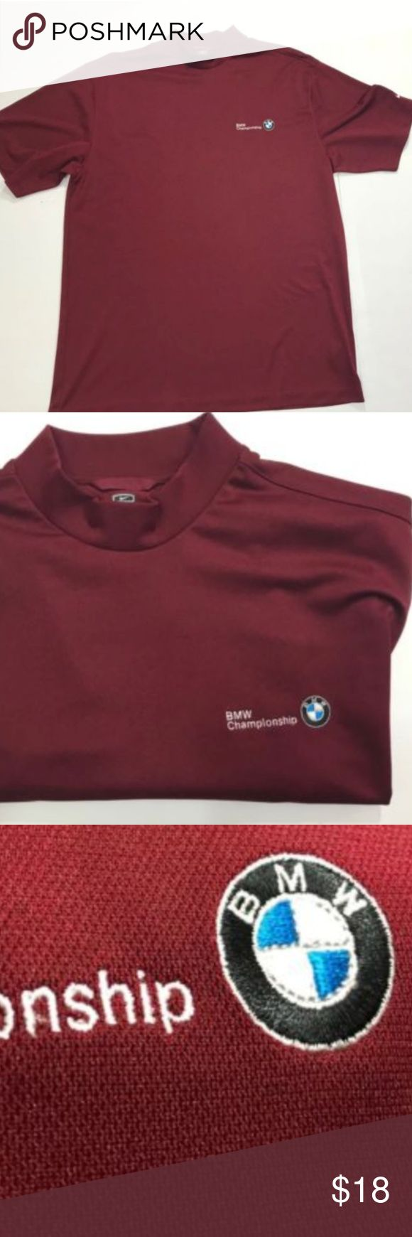 Nike Golf MAROON CREW NECK POLYESTER BMW XL Nike Golf MAROON CREW NECK POLYESTER BMW CHAMPIONSHIP SHORT SLEEVE SHIRT   SIZE XL  PRE-OWNED   PLEASE SEE PICTURES FOR FULL DETAILS  SHIPS FAST AND SAFE! nike Shirts Tees - Long Sleeve