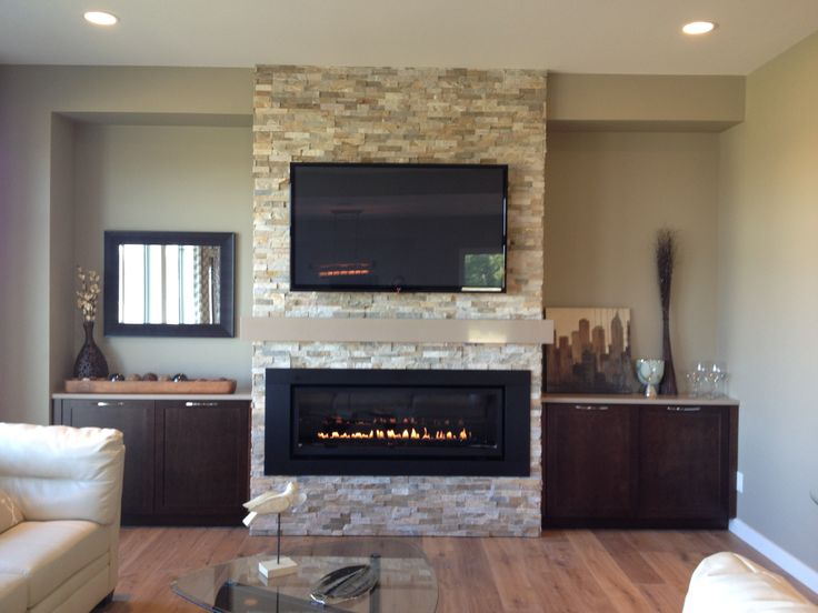 LDV54N Fireplace, Canyon Stacked Stone