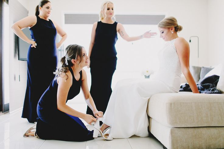 Classic Bridesmaid dresses. Beautiful in Navy or Black and absolutely timeless. Photography by Juddric Photography. www.summerdean.com.au