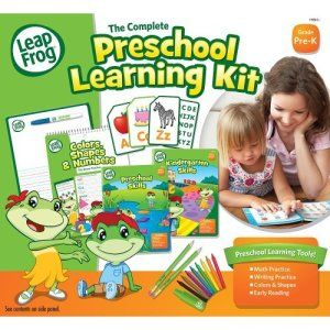LeapFrog The Complete Preschool Learning Kit Please do not get this kit unless you are prepared to spend time with your child to go through this. When teaching the alaphabet, please use the phonics http://bit.ly/1v0Lh4Z